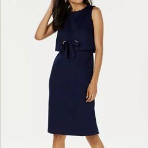 NWT Jessica Howard Navy Sleeveless Popover Dress